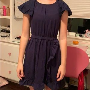 Crew cut cotton dress